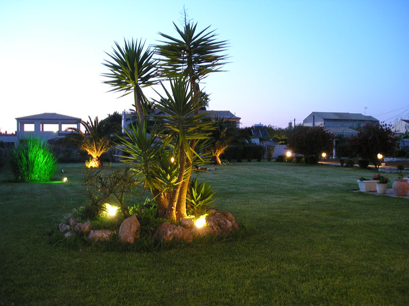 004 Villa Eleftheria by night accommodation in corfu
