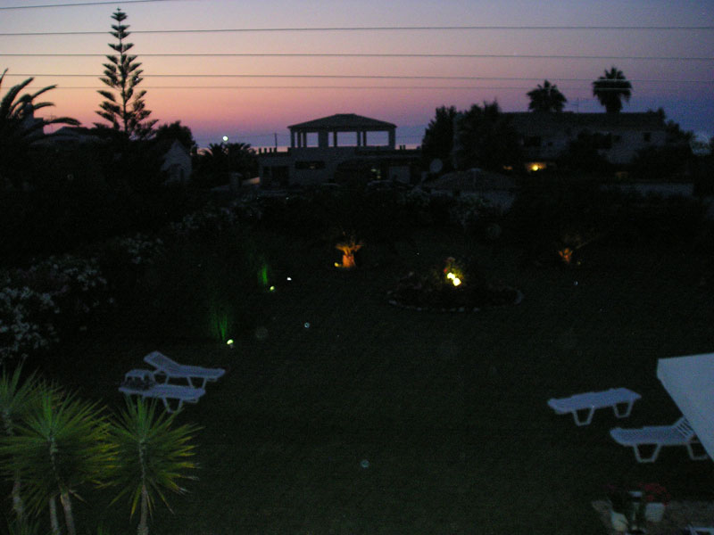 005 Villa Eleftheria by night accommodation in corfu