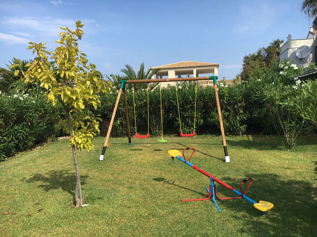 038 Villa Eleftheria Playground.JPG accommodation in corfu